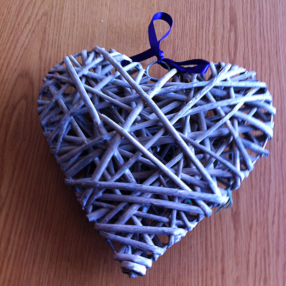 Rustic Willow Hearts Wedding Decoration From Bits Bobs